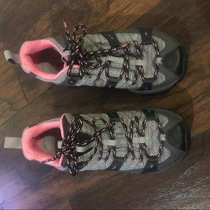 Merrell Vibram Hiking Sneakers Grey Pink Size 5.5